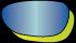 耐衝撃性及び曇りにくいサングラスレンズ 偏光ミラーブルー