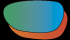 耐衝撃性及び曇りにくいサングラスレンズ 偏光ミラーアンバー